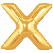 """X"" Gold Letter Inflated (34in)"