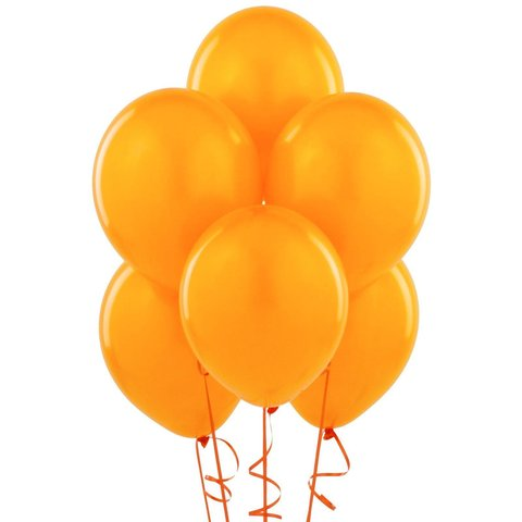 Orange Latex Balloons (w/Helium)