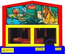 Themed Disney Lion King 6in1 Inflatable Combo WITH SECRET TUNNEL