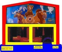 Themed Brother Bear 6in1 Inflatable Combo WITH SECRET TUNNEL