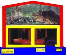 Themed Jurassic Park Dinosaurs 6in1 Inflatable Combo WITH SECRET TUNNEL