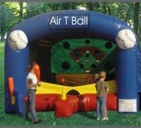 Air T ball with wiffleball bat, light balls and blower