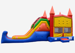 Castle Combo Themed 4 in 1 Jump Climb dry or water  slide with basketball hoop