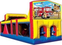 Themed Fire Truck Rescue Obstacle Course 33