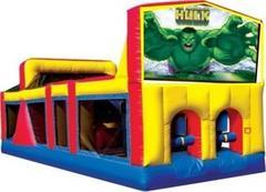 Themed Hulk Attack Obstacle Course 33