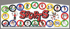 Themed Sports Kids Play M/L Jump13x13
