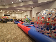Zorb Balls with 75 Ft X Track