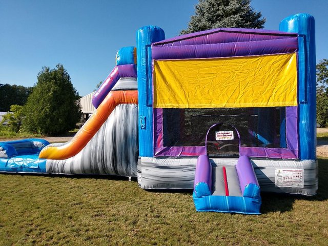 Marble Combo I Bounce House and Slide (Wet Or Dry)