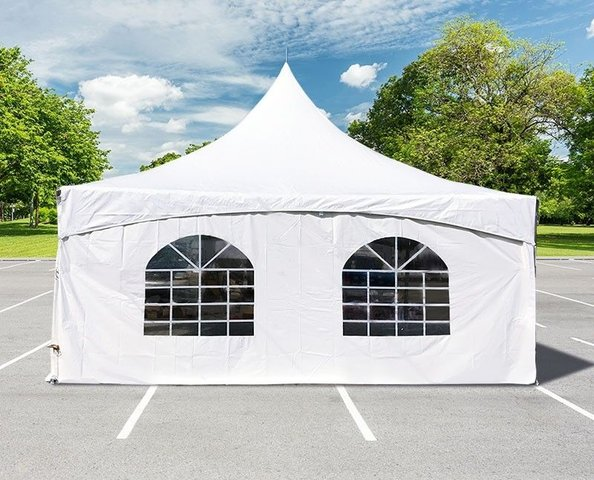 20 x 20 Tent Sidewall - Cathedral Window