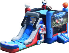 Sports Combo Bounce House and Slide (Wet Or Dry)
