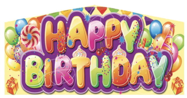 Happy Birthday Candyland Banner Panel