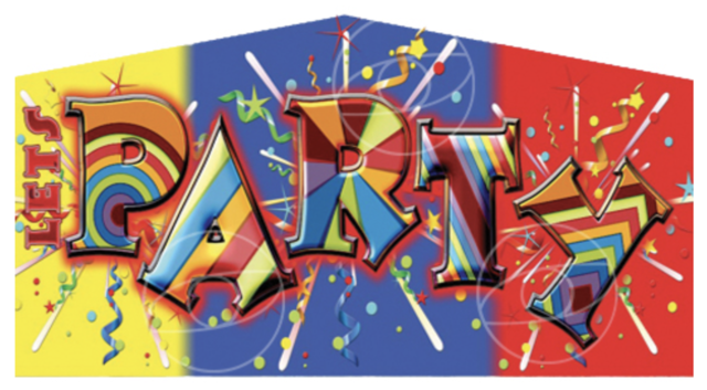 Lets Party Banner Panel