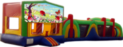 Ladybugs Butterflies and Flowers- 53' Obstacle Bouncer Combo