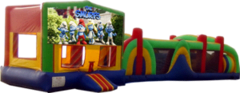 Smurfs- 53' Obstacle Bouncer Combo