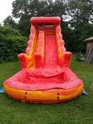 18' Fire and Marble Dry Slide (L-13) + cushion