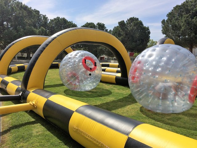 Hamster Balls With Giant Race Track