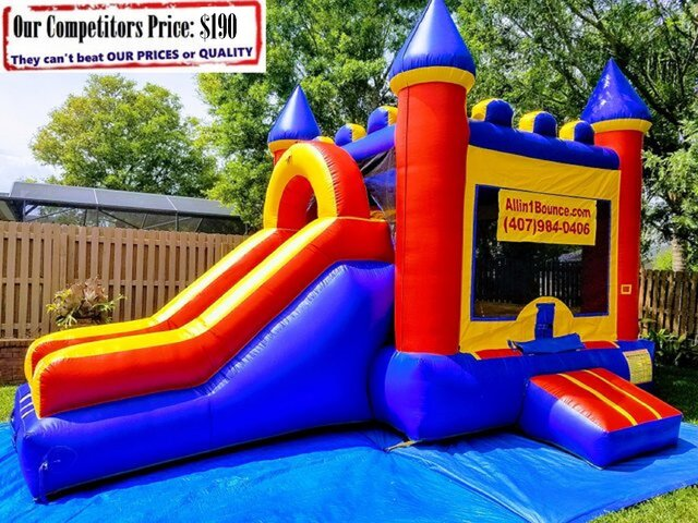 Large Castle (Bounce House Basketball Hoop & Slide Combo)