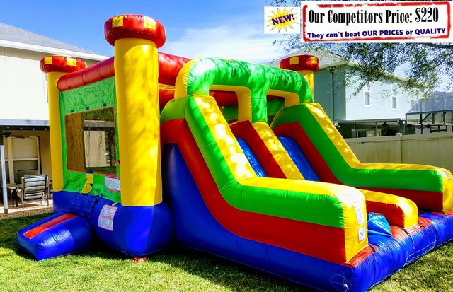 Medieval (Bounce House & Dual Slide Combo)