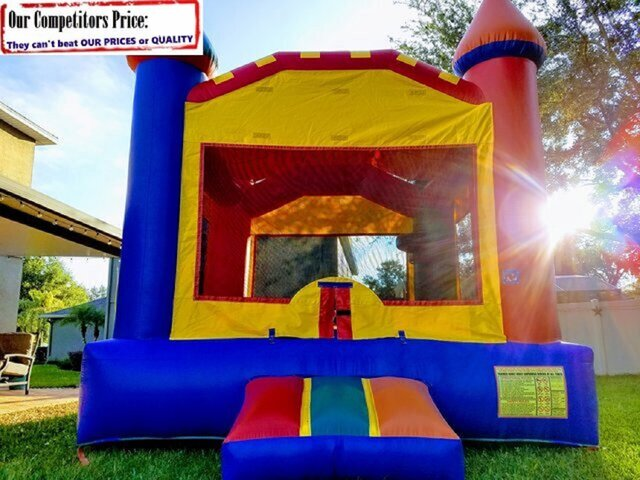 Chateau (Bounce House & Basketball Hoop Combo)