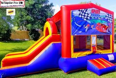 Race Car Theme (Bounce House & Slide Combo)