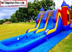 <b>Double Dip (Dual Water Slide Combo with Pool)