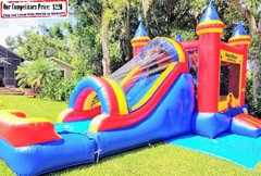 King Castle (Bounce House Slide Combo & Safety Bumper)