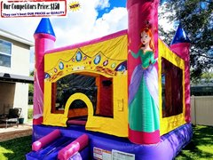 Princess Castle  (Bounce House & Basketball Hoop Combo)