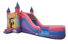 Princess Castle & Water Slide (Bounce House Water Slide Combo)