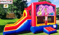 Princess Palace Theme (Bounce House & Slide Combo)