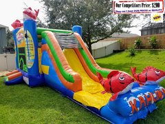 <b>Big Kahuna (Bounce House Slide & Basketball Hoop Combo)