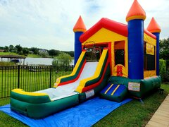 Medium Castle  (Water Slide Combo with Pool & Basketball Hoop)