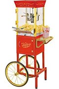 Popcorn Machine & CART (RED)