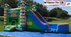 <b>Tiki Tropical Blast (Bounce House Slide & Basketball Hoop Combo)