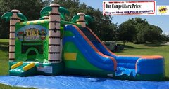 Tiki Tropical Blast (Water Slide Combo with Pool & Basketball Hoop)