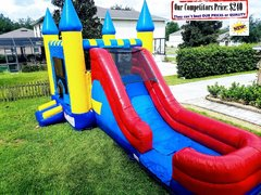 <b>XL Castle (Water Slide Combo & Basketball Hoop)