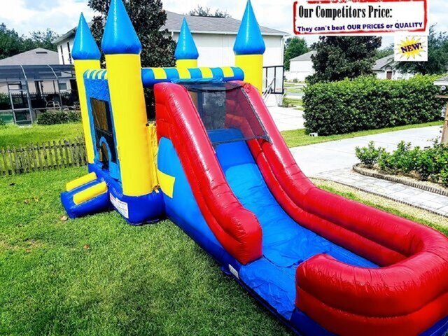 XL Castle (Water Slide Combo with Pool & Basketball Hoop)