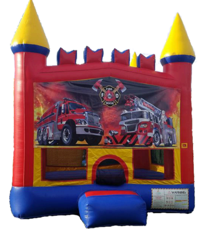 Fire Truck Themed Bouncer
