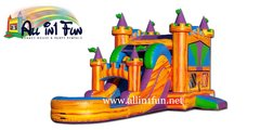 Fire Palace Water Slide Combo