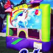 Unicorn Themed Bounce House