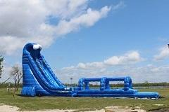 27x65ft Blue Crush Dual Lane Combo w Pool