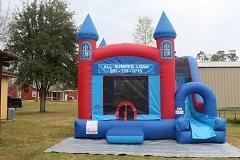 18ft Castle Bounce House Slide Combo Dry2