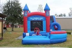 18ft Castle Bounce House Slide Combo w Pool