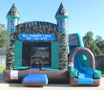 18' Camouflage Bounce House Slide Combo Dry