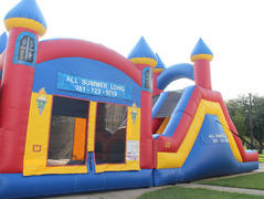 Triple Play Bounce House and Slide Dry