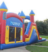 Triple Play Bounce House Slide w Pool