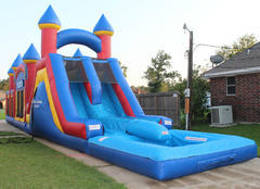 Triple Play Obstacle, Bounce House, Slide w Pool2