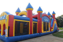 Triple Play Obstacle Bounce House Slide Dry2