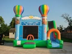 18ft Hot Air Balloon Bounce House Slide Combo Dry