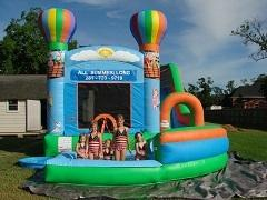 18ft Hot Air Balloon Bounce House Slide Combo w Pool