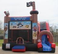 18ft Pirate Bounce House Slide Combo Dry